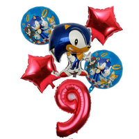 Sonic The Number Foil Balloons For Birthday Decoration-thumbnail