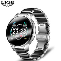 LIGE New Ceramic Smart Watch Women Heart Rate Blood Pressure Monitor For Android IOS Sport Multifunctional Steel Belt Smartwatch-thumbnail