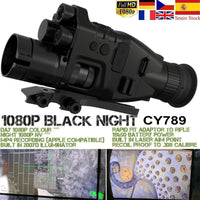 Night Vision Riflescope Monocular w/ Wifi APP 200M Range NV Scope 940nm IR Night Vision Sight Hunting Trail Camera Telescope-thumbnail