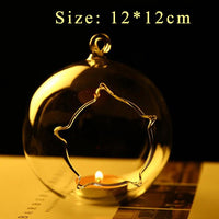 Romantic Candle Holders Glass Essential Fragrance Oil Holder Micro Landscape Candlestick Home Wedding Decor Dinner Europe style-thumbnail