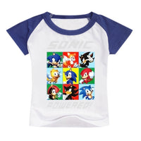 Children Sonic T-Shirt Tops Short Sleeves-thumbnail