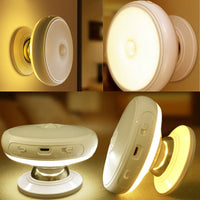 Motion Sensor light 360 Degree Rotating Rechargeable LED Night Light Security Wall lamp for Home Stair Kitchen toilet lights-thumbnail