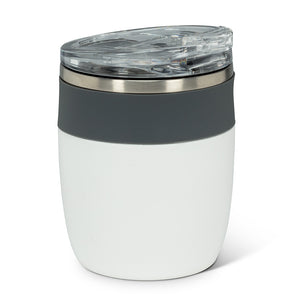 "White and Grey Insulated Tumbler 4.5""H"