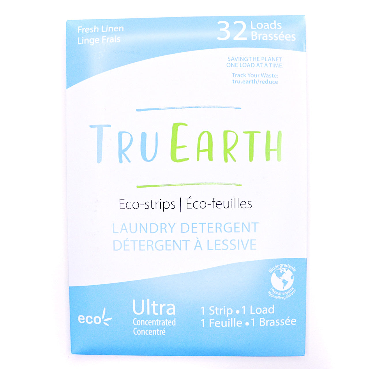Tru Earth Eco Strips Laundry Detergent Fresh Linen 32 Loads