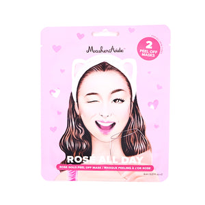 MaskerAide Rose All Day Rose Gold Peel  Mask