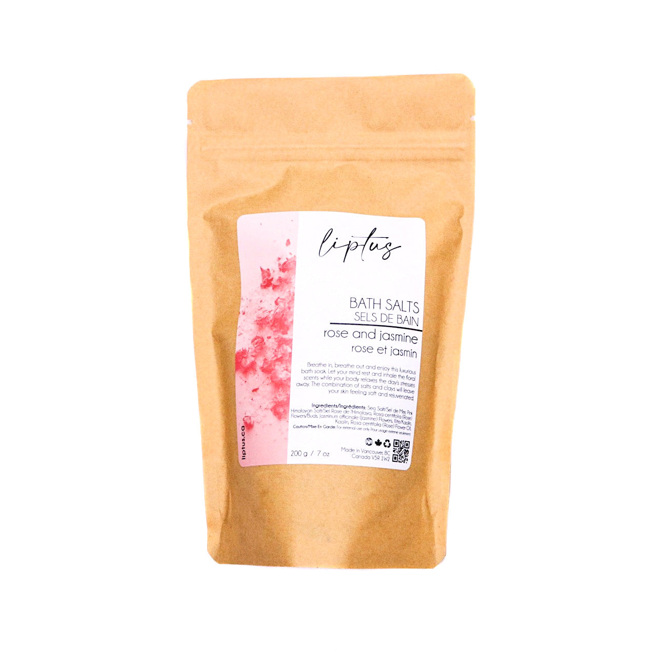 Liptus Bath Salts Rose and Jasmine