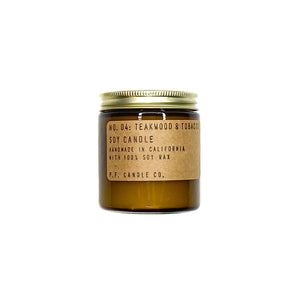 P.F. Candle Co. Teakwood & Tobacco 3.5oz Soy Candle