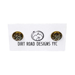 Dirt Road Designs YYC  Bronze Animal Print Studs