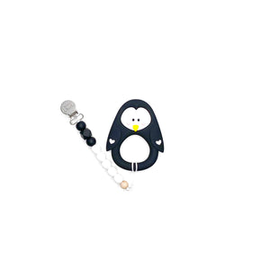 Little Cheeks  Penguin Clip Black