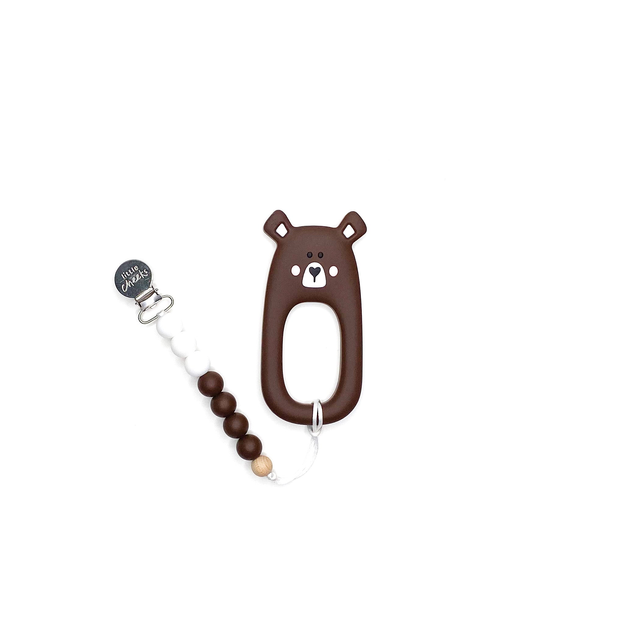 Little Cheeks Bear Clip