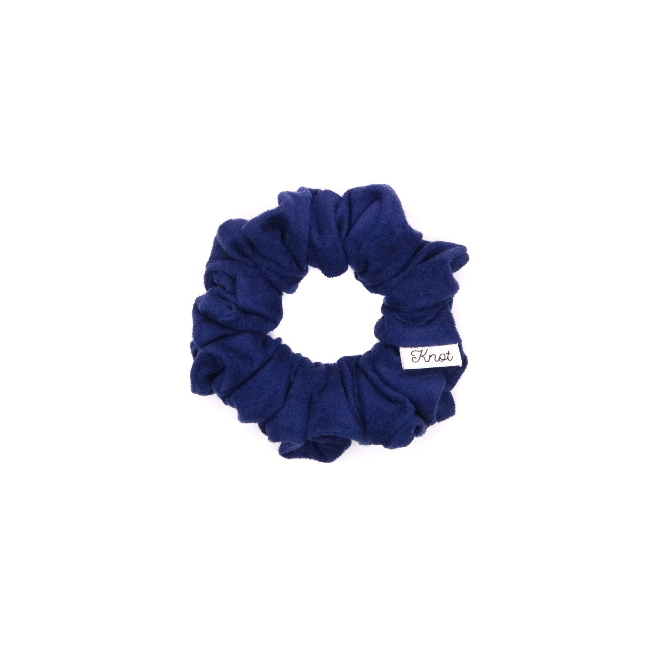 The Knot Shop Hair Scrunchie Blue Suede