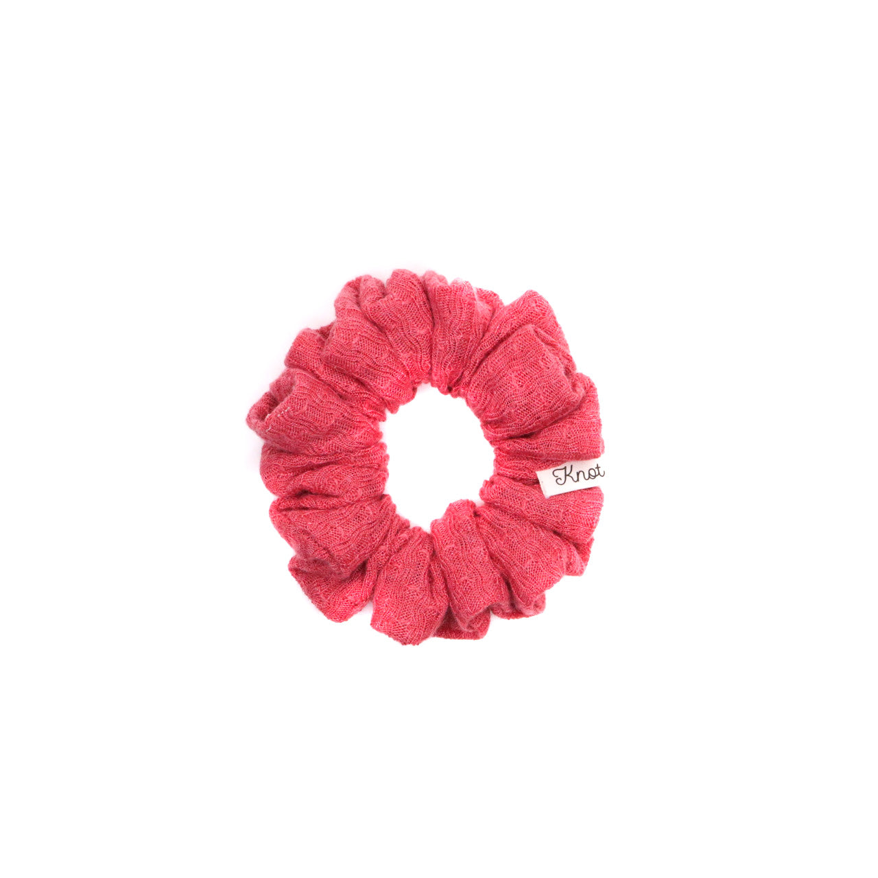 The Knot Shop Hair Scrunchie Cranberry Lace