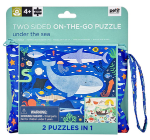 Petit Collage Two Sided On the Go Puzzle Under the Sea