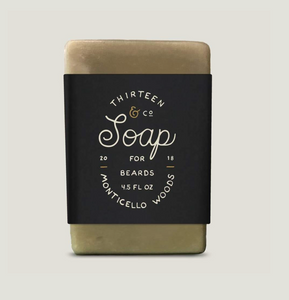 13 & Co Monticello Woods Beard Soap