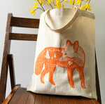 Load image into Gallery viewer, HAVYN Every Day Canvas Tote Bag Fox