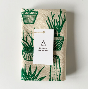 HAVYN Organic Tea Towel Succulents