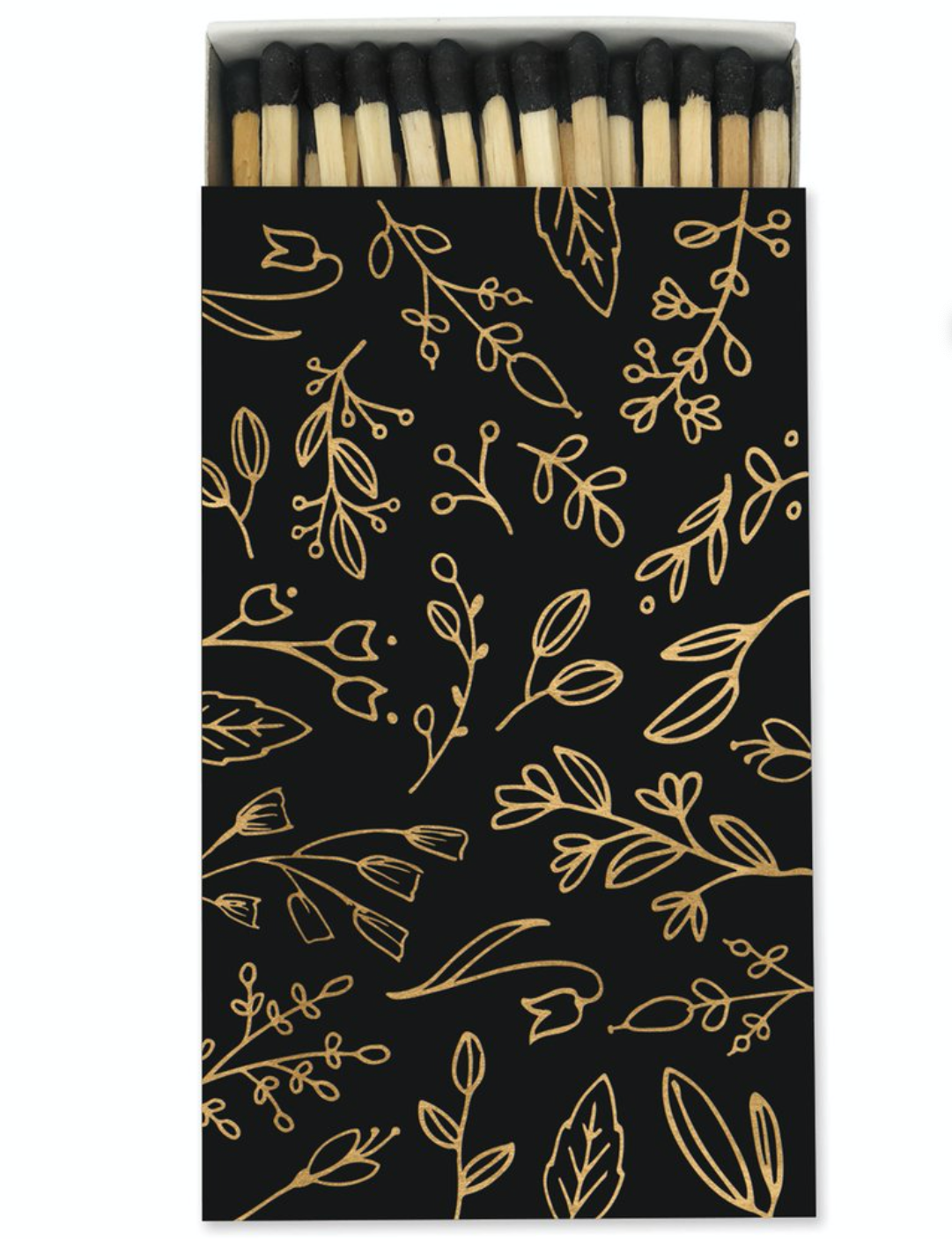 Frankie & Claude Black & Gold Foil Floral Match Box Large