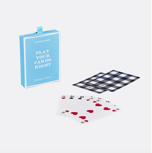 Draper James Playing Cards Gingham