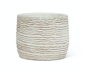 "Small Wavy Ripple Planter 5""D"