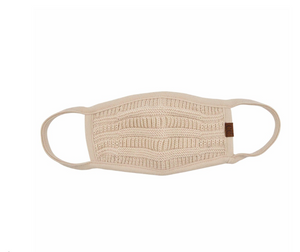 C.C. Knit Face Mask Almond