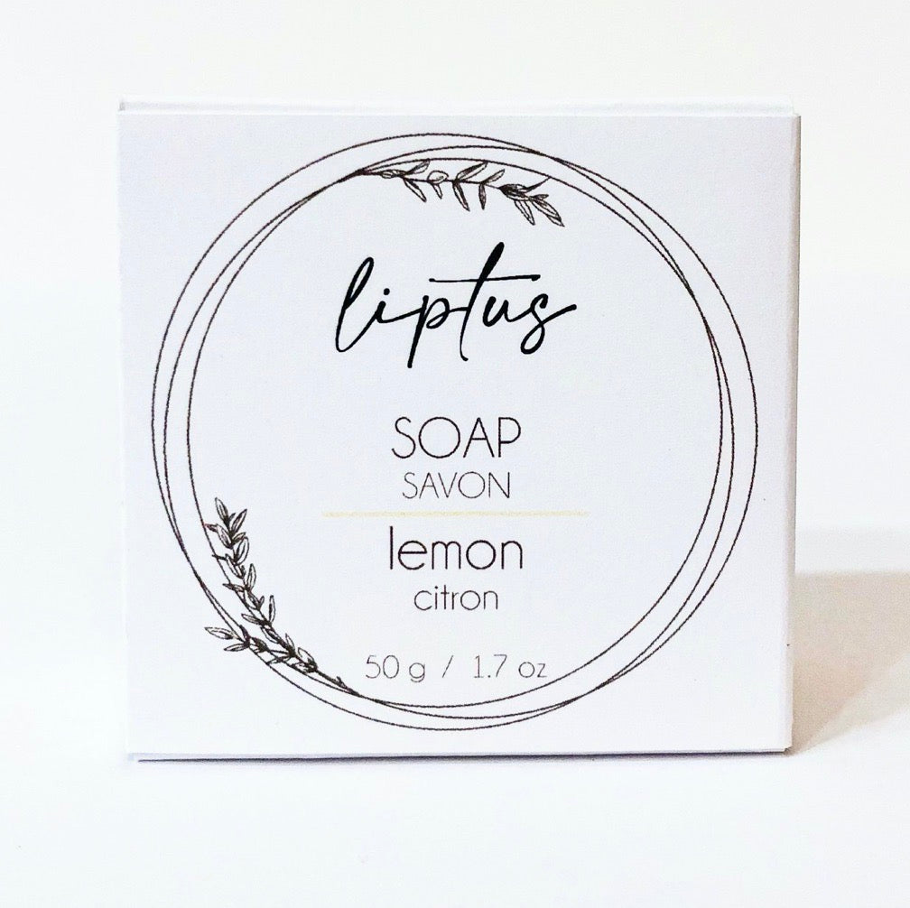 Liptus Round Soap Lemon