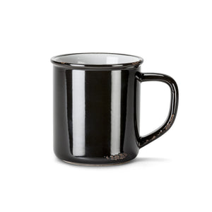 "Enamel Look Mug  4""H 14oz Black"