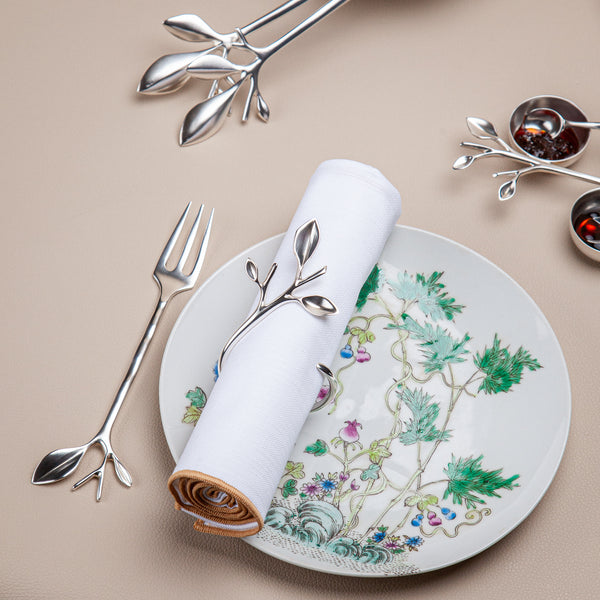 Blue Leaves -  Dessert Fork (Branch)