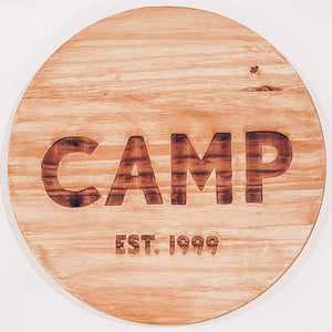 "18"" Custom Wood Round Sign"