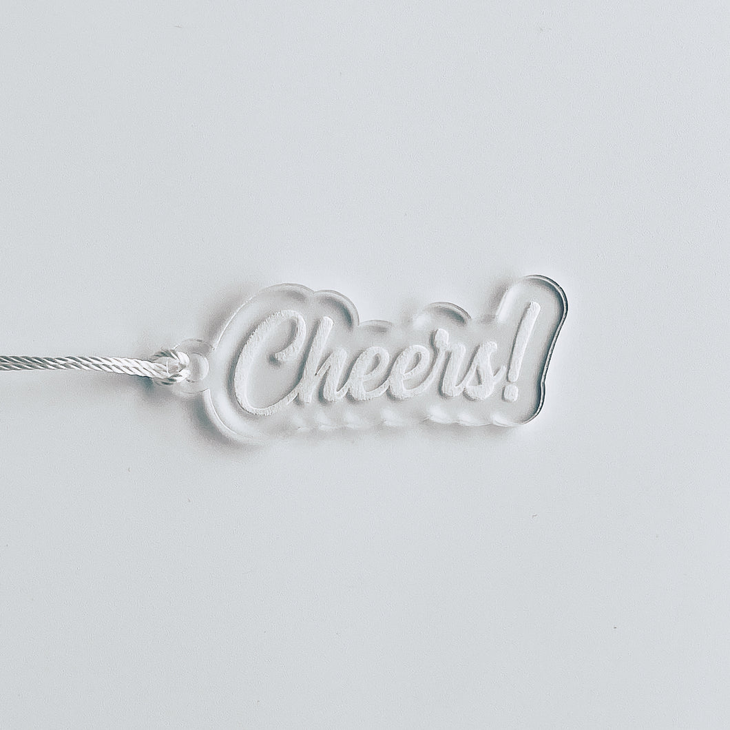 Cheers Bottle Gift Tag Keychain