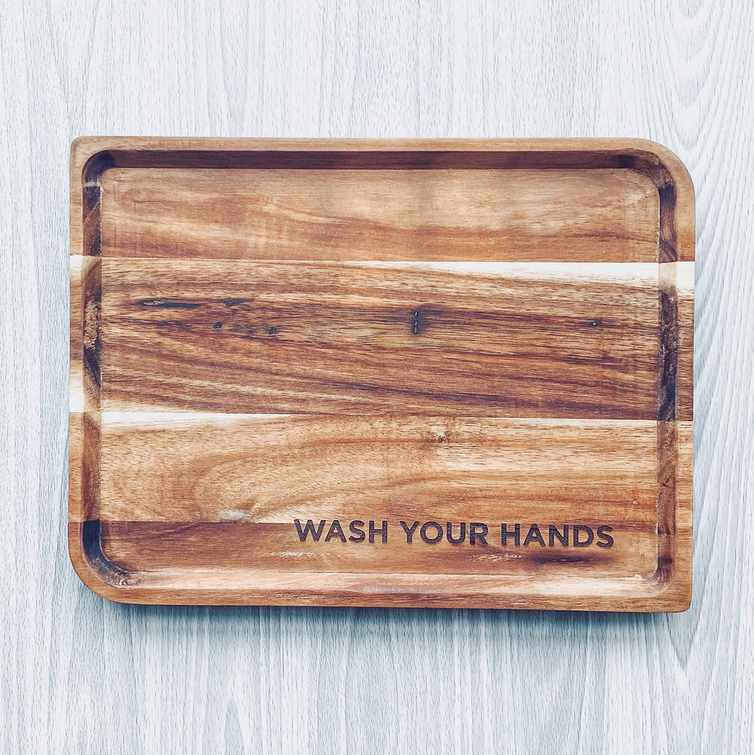 Wash Your Hands Tray // Large