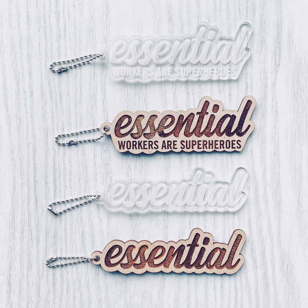 Essential Workers Keychain
