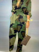 Load image into Gallery viewer, Camo All Day Jumpsuit