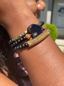 Agate Beaded Stack