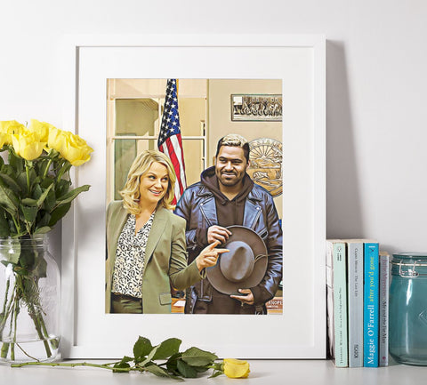 Parks And Recreation | Poster Personalizable Con Tu Dibujo