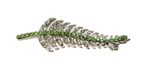 A Fern brooch encrusted with diamantes.  perfect kiwiana gift
