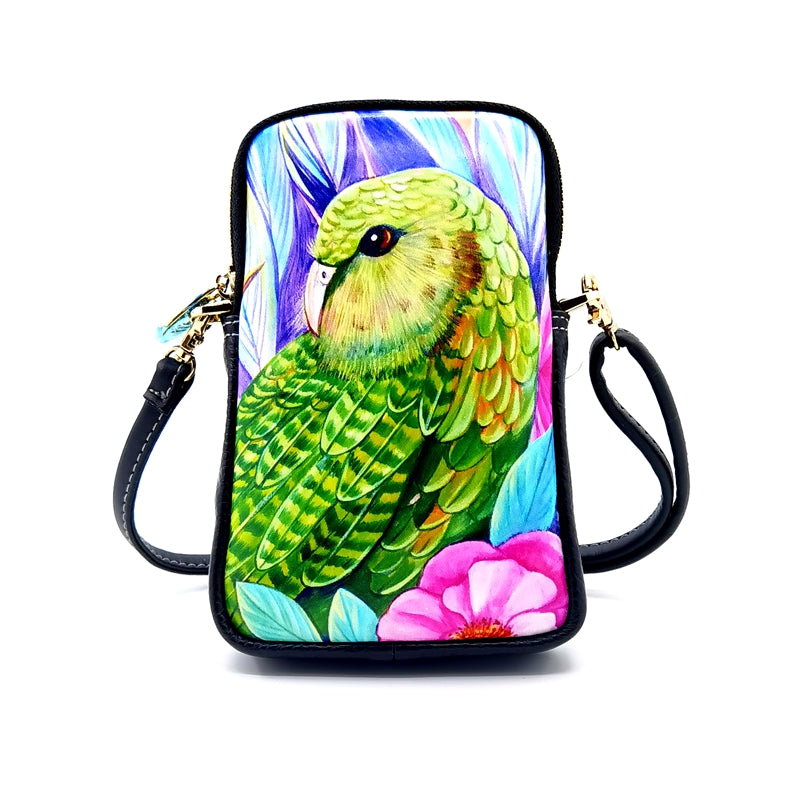 Irina Velman cellphone bag kakapo new zealand artist nz