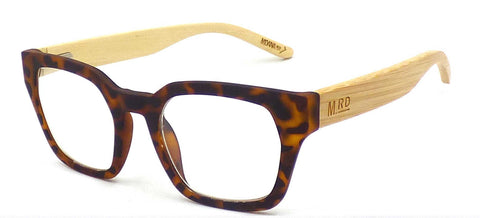 Moana Rd Moana Road Dark Tortoiseshell Rectangular Readers Glasses
