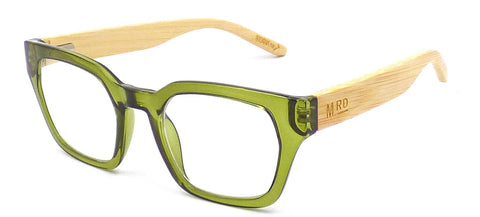 Moana Rd Moana Road Green Rectangular Readers Glasses
