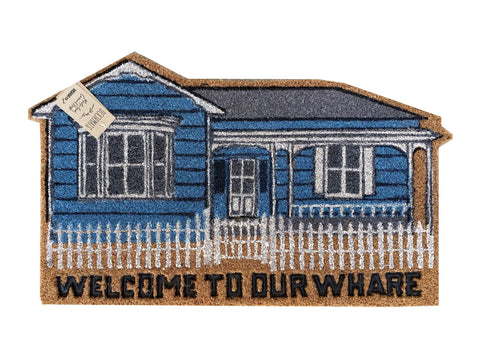 Moana Rd Moana Road Doormat -Welcome to Our Whare  coconut husk - Size: 75cm x 45cm - The Coir villa