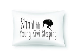 Moana Rd Single Pillowcases - Young  Kiwi Sleeping 100% Cotton