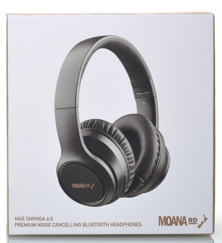 Moana Road Nga Taringa 6.0 headphones premium noise cancelling bluetooth headphones have the latest in Active Noise Cancelling (ANC) technology