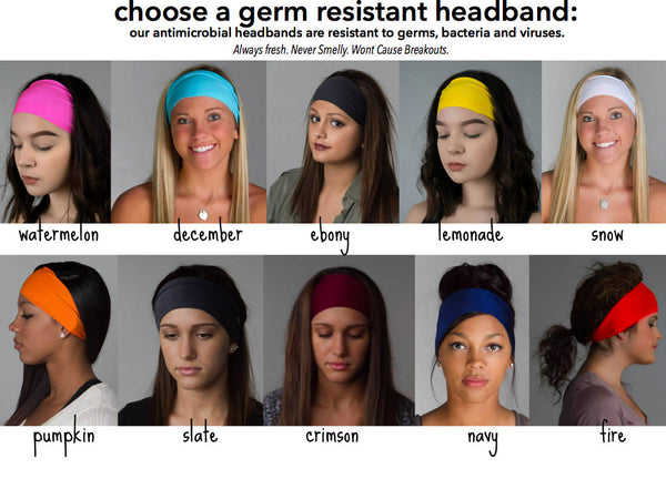 germ and smell resistant headbands