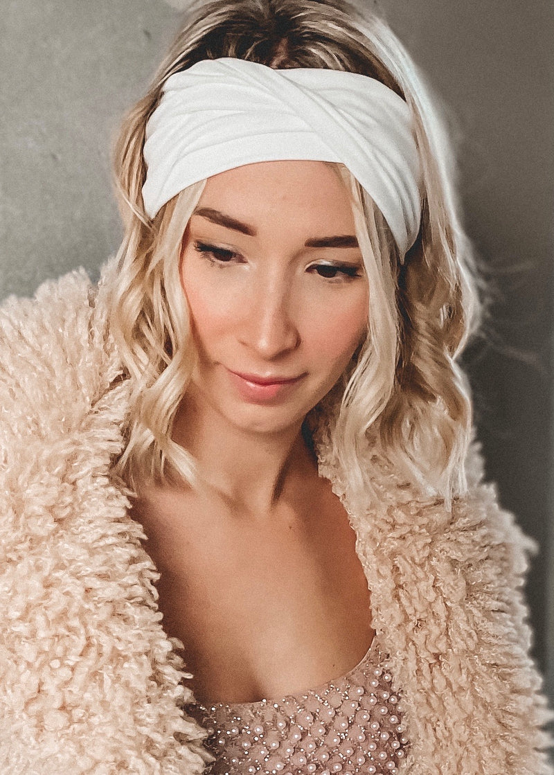 White Twisted Headwrap