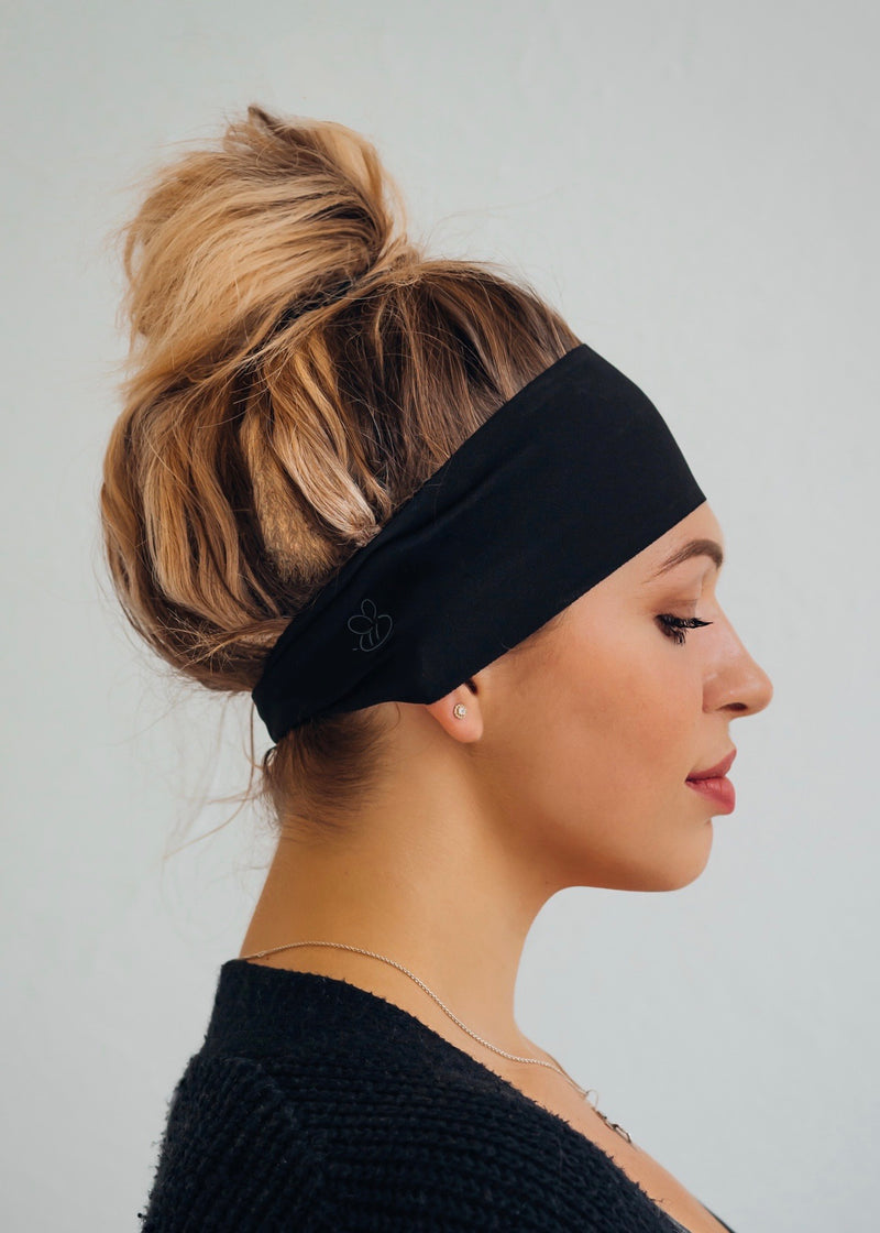 Basic Black Antimicrobial No Slip Headband