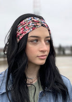 floral twisted headband