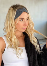 Gray Twisted Headwrap
