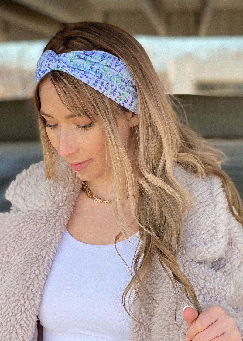 Lavender Twisted Headwrap
