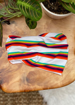 Stripe Extra Wide Headwrap