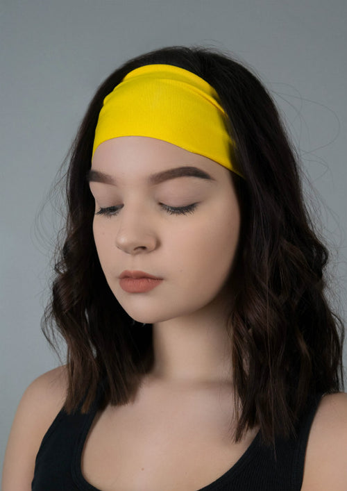 Bright Yellow Antimicrobial Yoga Headband