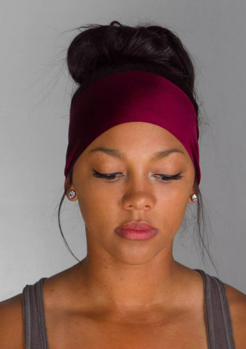 Maroon Yoga Headband